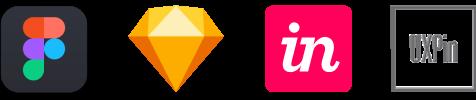 Figma, Sketch, Invision, UXPin